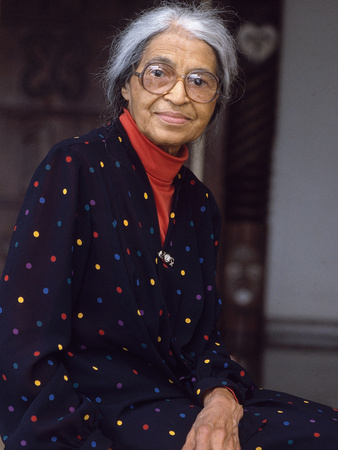 """Rosa Parks, """"Mother of the Civil Rights Movement"""", 1995 Photographic Print by Vandell Cobb"""
