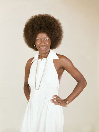 Famed Singer Natalie Cole Is Photographed, June 1973 Photographic Print by Isaac Sutton