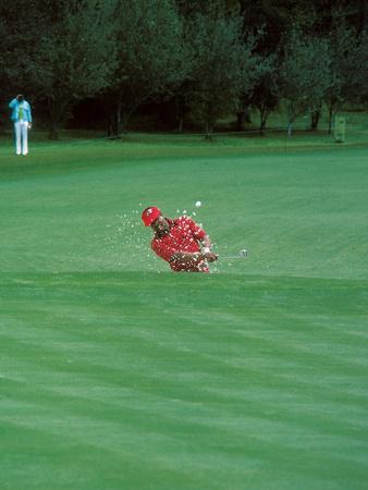 Professional Golfer Lee Elder, Masters on April 13, 1975 Photographic Print by Moneta Sleet