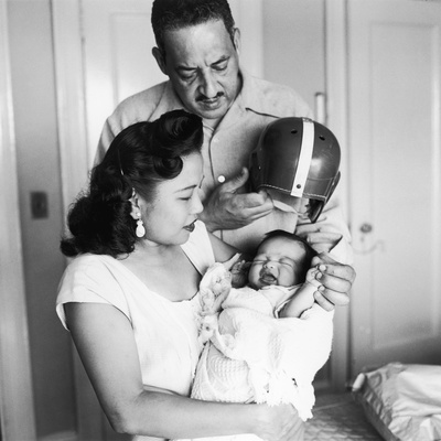 Thurgood and Cecelie Marshall, Welcome their First Son, Thurgood Jr. into the World, 1956 Photographic Print by G. Marshall Wilson
