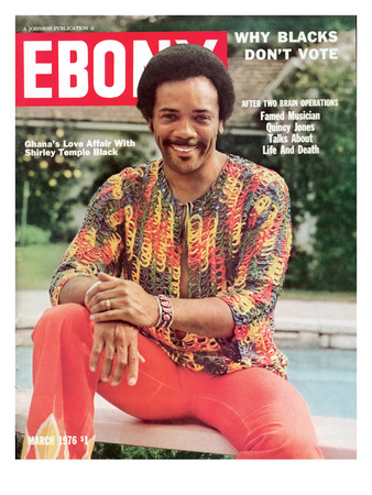 Ebony March 1976 Photographic Print by Moneta Sleet