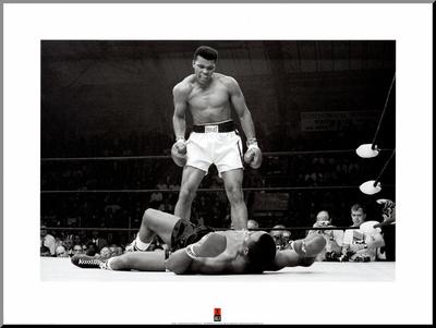 Muhammad Ali vs. Sonny Liston Reprodukce aplikovaná na dřevěnou desku