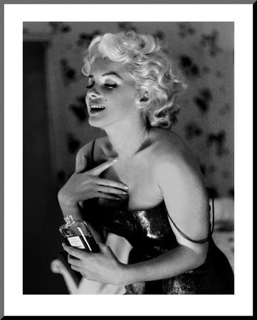 Marilyn Monroe, Chanel No.5 Mounted Print by Ed Feingersh
