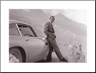 James Bond: Aston Martin Mounted Print