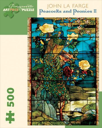 Lafarge/Peacocks & Peonies 500 Piece Puzzle Jigsaw Puzzle