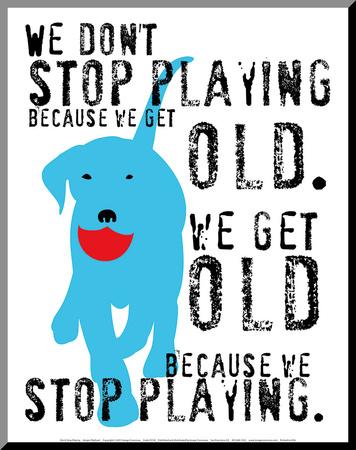 Don't Stop Playing Lámina montada en tabla