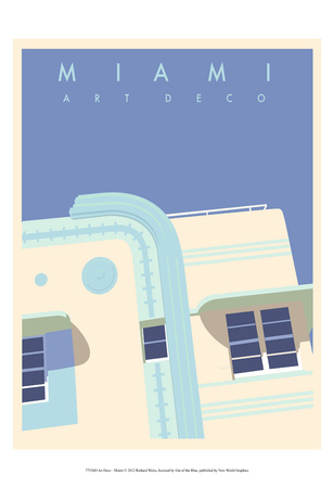 Art Deco-Miami Pósters por Richard Weiss