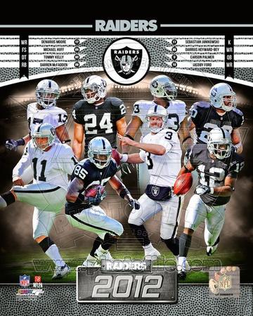 Oakland Raiders 2012 Team Composite Photo