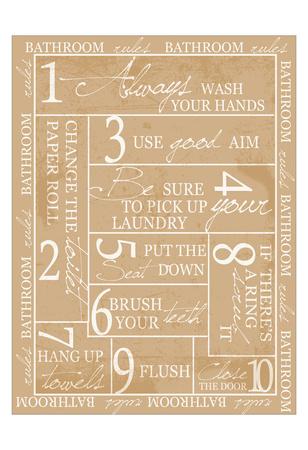 Bathroom Rules Art by Taylor Greene