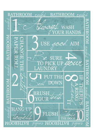 Bathroom Rules Posters by Taylor Greene