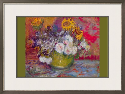 Still-Life with Roses and Sunflowers by Van Gogh Prints by Vincent van Gogh