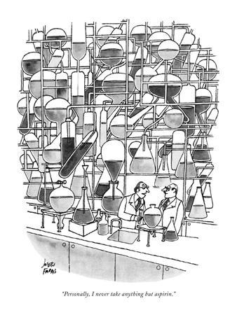 """Personally, I never take anything but aspirin."" - New Yorker Cartoon Giclee Print by Joseph Farris"