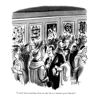 """I don't know anything about art, but this is a damned good Martini."" - New Yorker Cartoon Giclee Print by Barney Tobey"