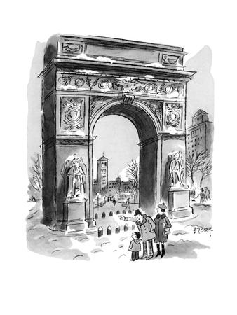 """Just like you, David. He was born in February, too!"" - New Yorker Cartoon Giclee Print by Barney Tobey"