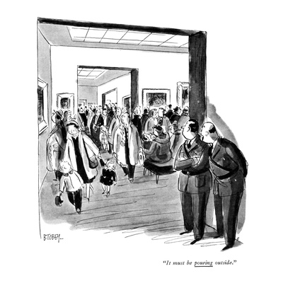 """It must be pouring outside."" - New Yorker Cartoon Giclee Print by Barney Tobey"
