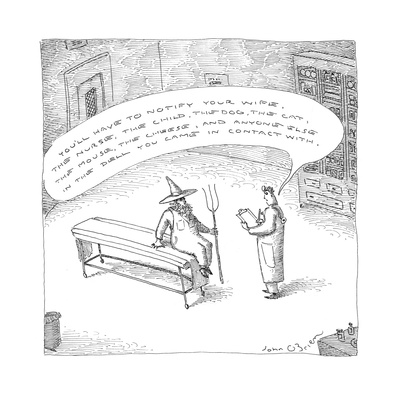 """""""You'll have to notify your wife, the nurse, the child, the dog, the cat, …"""" - Cartoon Giclee Print by John O'brien"""
