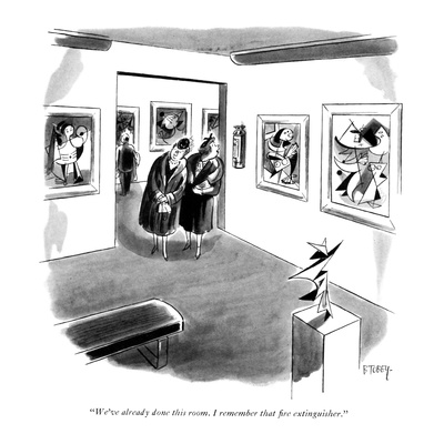 """We've already done this room. I remember that fire extinguisher."" - New Yorker Cartoon Giclee Print by Barney Tobey"