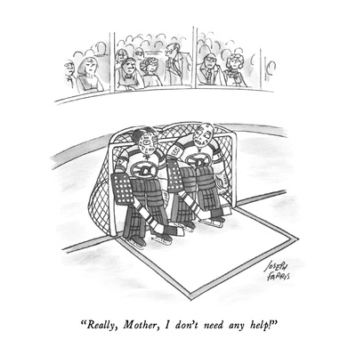 """Really, Mother, I don't need any help!"" - New Yorker Cartoon Giclee Print by Joseph Farris"