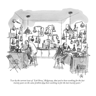 """I see by the current issue of 'Lab News,' Ridgeway, that you've been work…"" - New Yorker Cartoon Giclee Print by Everett Opie"