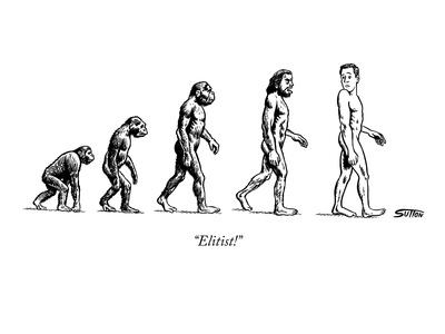 """""""Elitist!"""" - New Yorker Cartoon Giclee Print by Ward Sutton"""