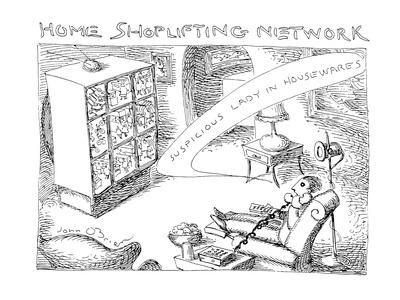 Home Shoplifting Network - Cartoon Giclee Print by John O'brien