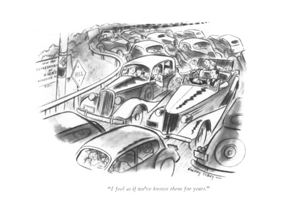 """I feel as if we've known them for years."" - New Yorker Cartoon Giclee Print by Barney Tobey"