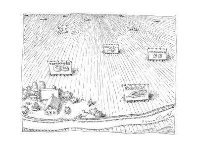 Farmer's crops - Cartoon Giclee Print by John O'brien