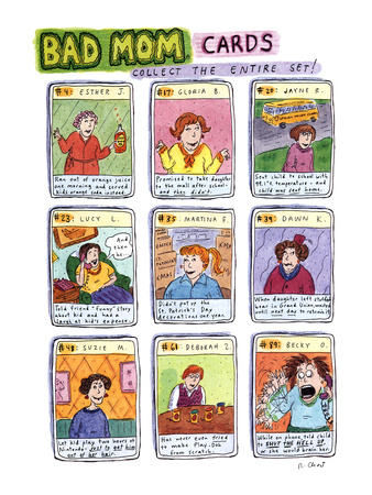 Bad Mom Cards: Collect The Whole Set! - New Yorker Cartoon Giclee Print by Roz Chast