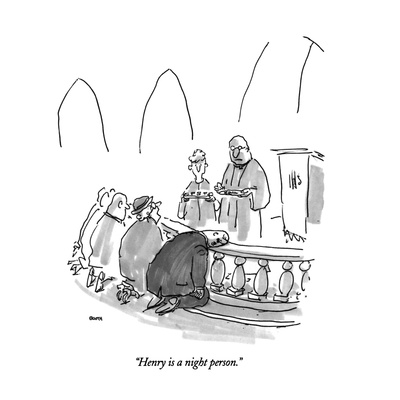 """Henry is a night person."" - New Yorker Cartoon Giclee Print by George Booth"