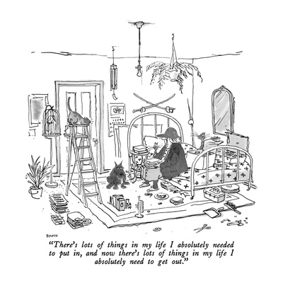 """There's lots of things in my life I absolutely needed to put in, and now …"" - New Yorker Cartoon Giclee Print by George Booth"