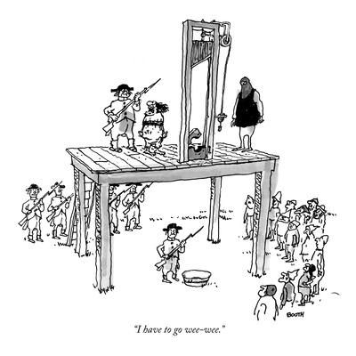 """I have to go wee-wee."" - New Yorker Cartoon Giclee Print by George Booth"