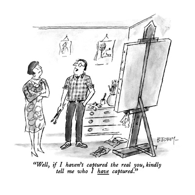 """Well, if I haven't captured the real you, kindly tell me who I have captu…"" - New Yorker Cartoon Giclee Print by Barney Tobey"
