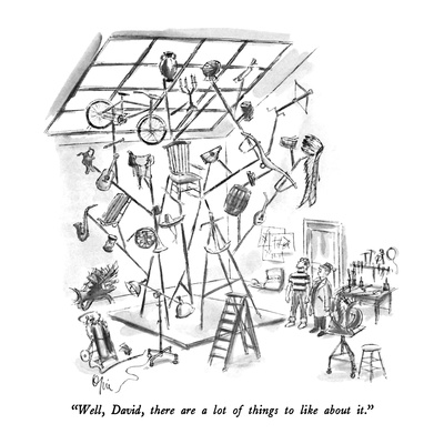 """Well, David, there are a lot of things to like about it."" - New Yorker Cartoon Giclee Print by Everett Opie"
