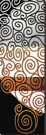 Twisting Whirly Swirls after Klimt Stretched Canvas Print by Michael Timmons