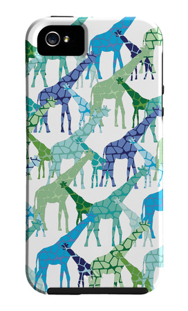 Giraffe pattern abstract iPhone case design artwork by Avalisa