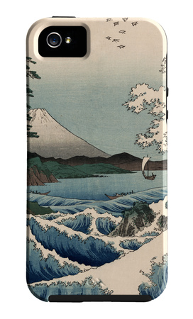 View from Satta Suruga Japanese Art iPhone case design artwork by Ando Hiroshige