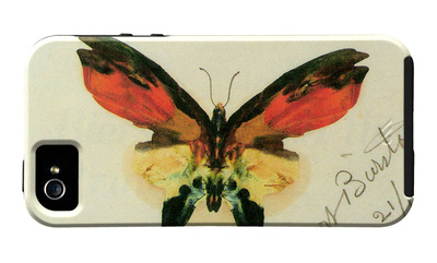 Butterfly drawing iPhone case design artwork by Albert Bierstadt