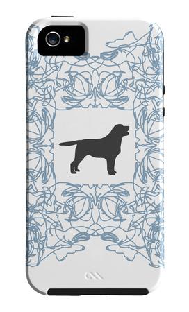 Blue Lab Frame Funda de iPhone 5 por Avalisa,