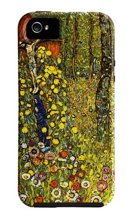 Garden with Crucifix Funda de iPhone 5 por Gustav Klimt