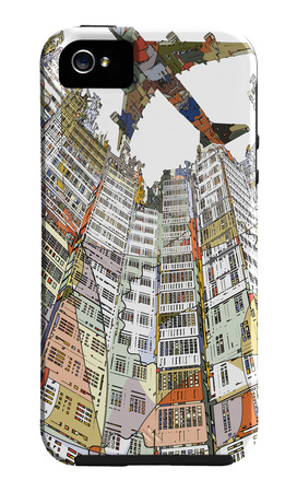 Kowloon Walled City image iPhone case design artwork by HR-FM