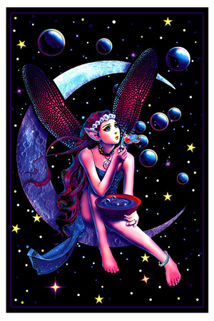 Fairy Dream Flocked Blacklight Poster Photo
