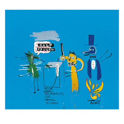 The Dingoes That Park Their Brains with Their Gum, 1988 Giclée-tryk af Jean-Michel Basquiat