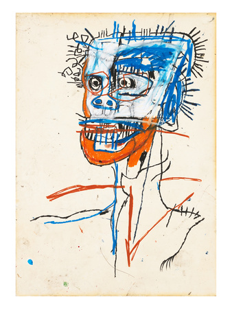 Untitled (Head of Madman), 1982 Giclee Print by Jean-Michel Basquiat