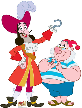Captain Hook & Mr. Smee - Jake and the Neverland Pirates Lifesize Standup Cardboard Cutouts