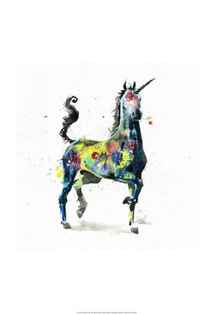 Unicorn Poster by Lora Zombie