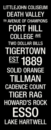 Clemson: College Town Wall Art Stretched Canvas Print