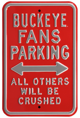 Buckeye Crushed Parking Steel Sign Wall Sign