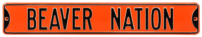 Beaver Nation Oregon State Steel Sign Wall Sign