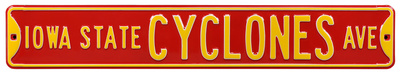 Iowa State Cyclones Ave Steel Sign Wall Sign