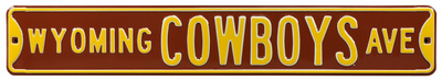 Wyoming Cowboys Ave Steel Sign Wall Sign
